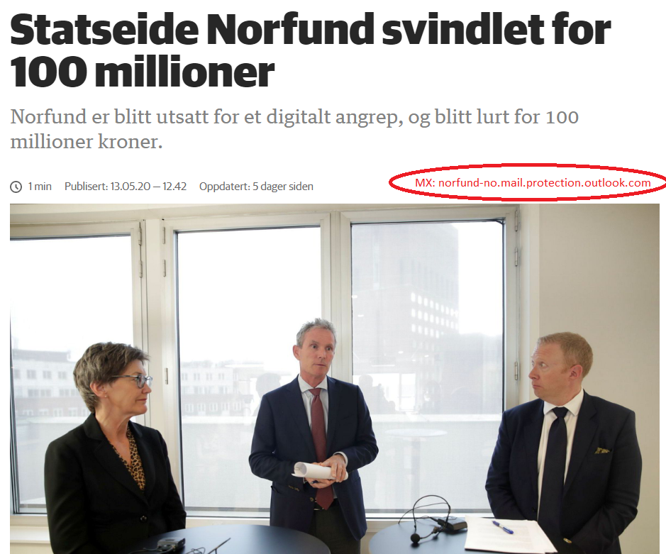 Norfund e-post  svindlet for 100 millioner !